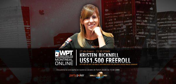 'Freeroll da Kristen' dá buy-in para MILLIONS Online Mini ME; senha será revelada nesta quarta, na nossa Twitch