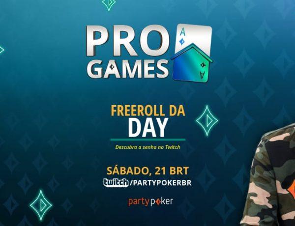 Com $ 500 Gtd, Freeroll da Day agita Twitch do partypoker neste sábado