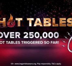 Hot Tables agora distribuem até $ 1.000 por mão; veja números da promoção