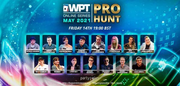 Con el Pro Hunt, empieza el WPT Online Series en partypoker